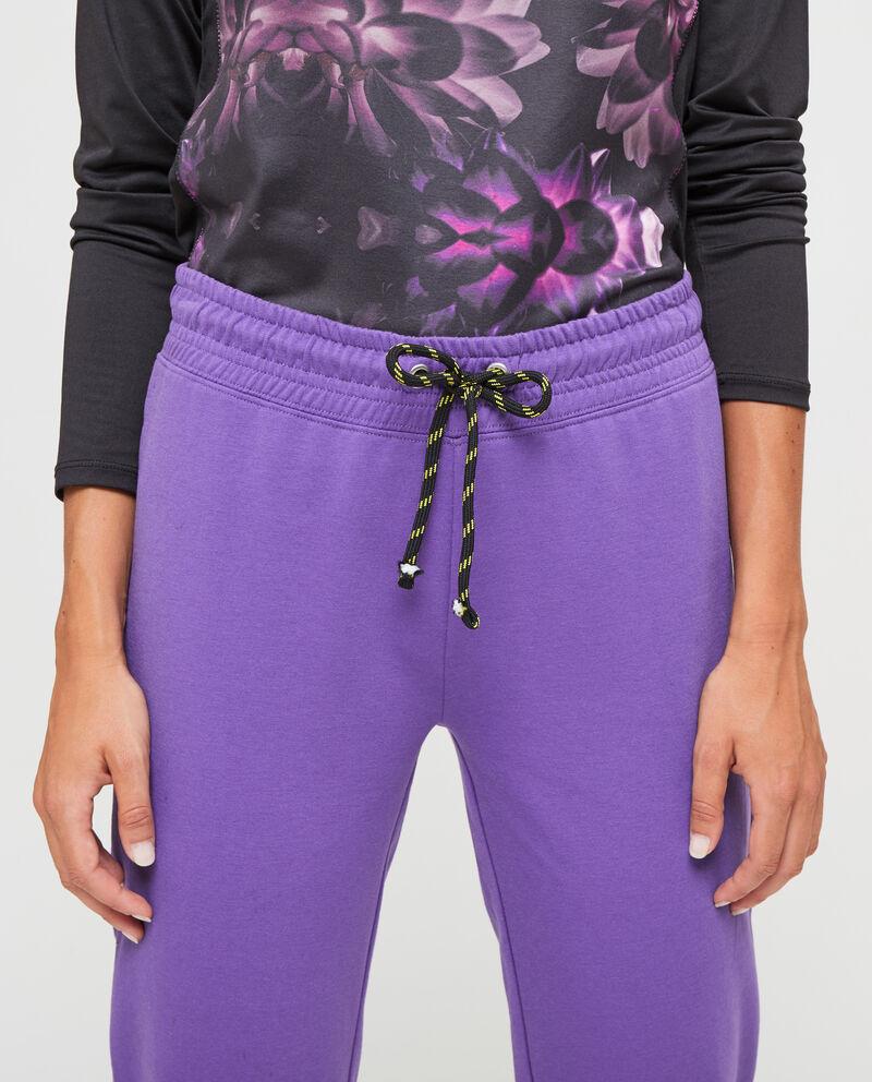 Pantaloni tuta con coulisse a contrasto