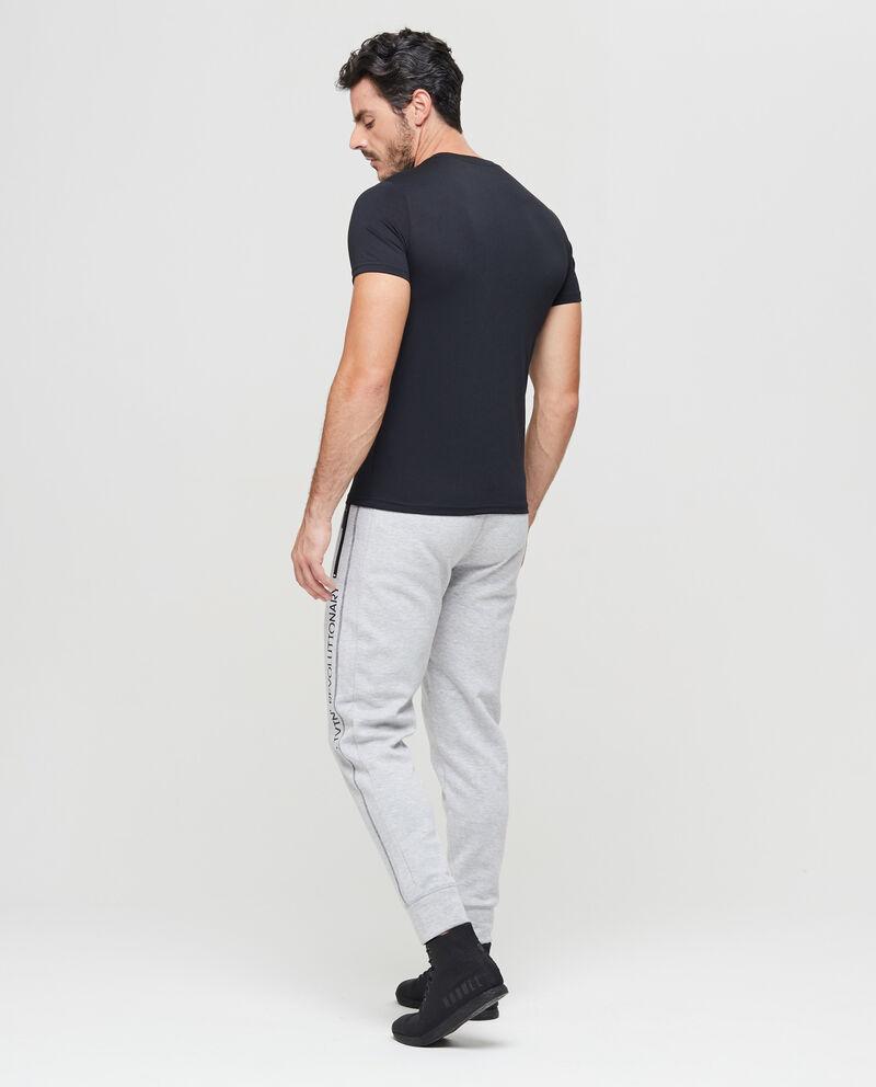 T-shirt sportiva stampata con zip