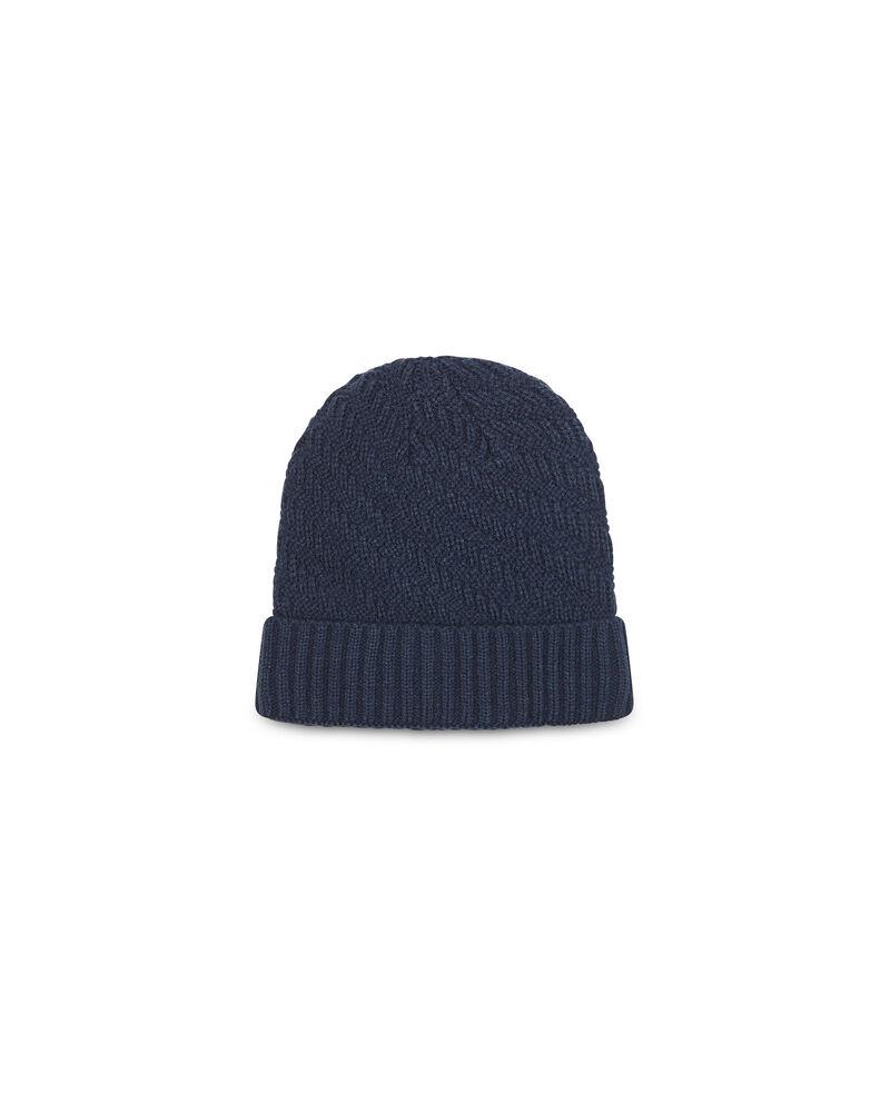 Cappello a cuffia con trama intrecciata