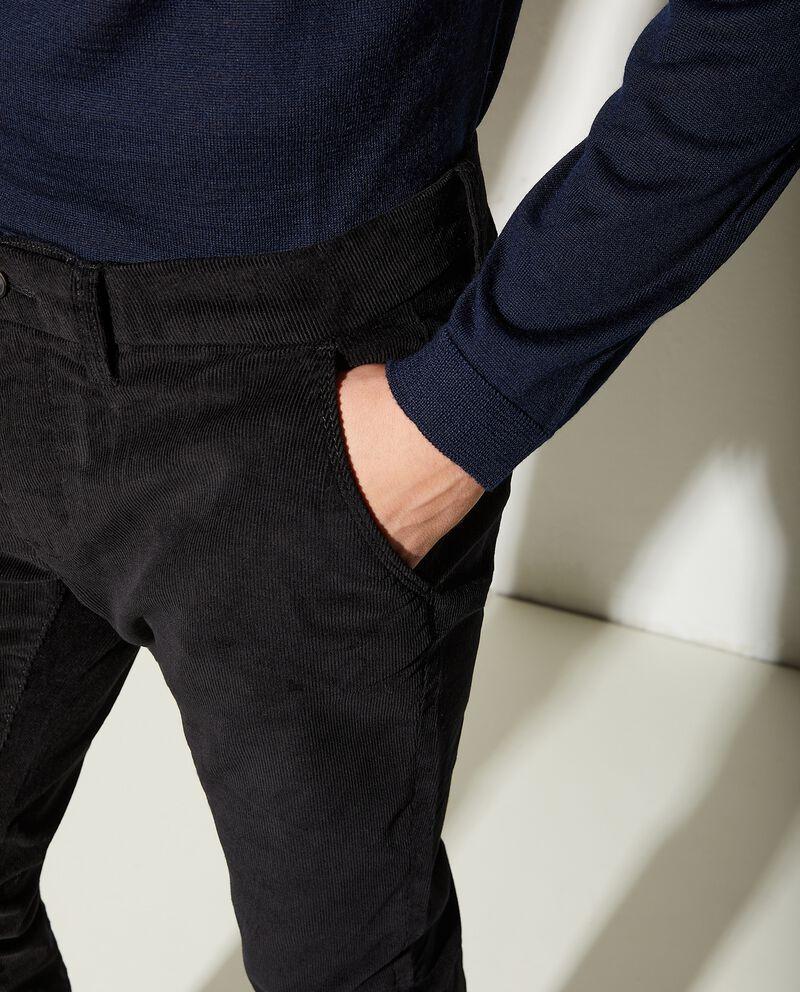 Pantaloni chino a costine slim fit uomo