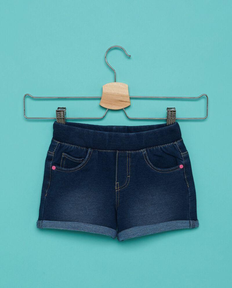 Shorts in tinta unita con fascia elastica bambina