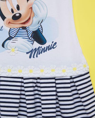 Vestitino gonna a righe stampa Minnie