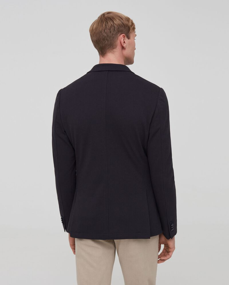 Blazer in misto cotone stretch