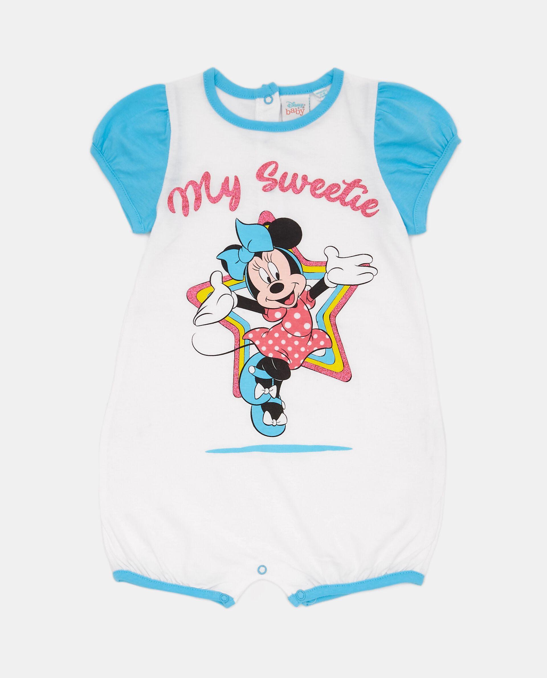 Tutina pigiama con Minnie in puro cotone neonata