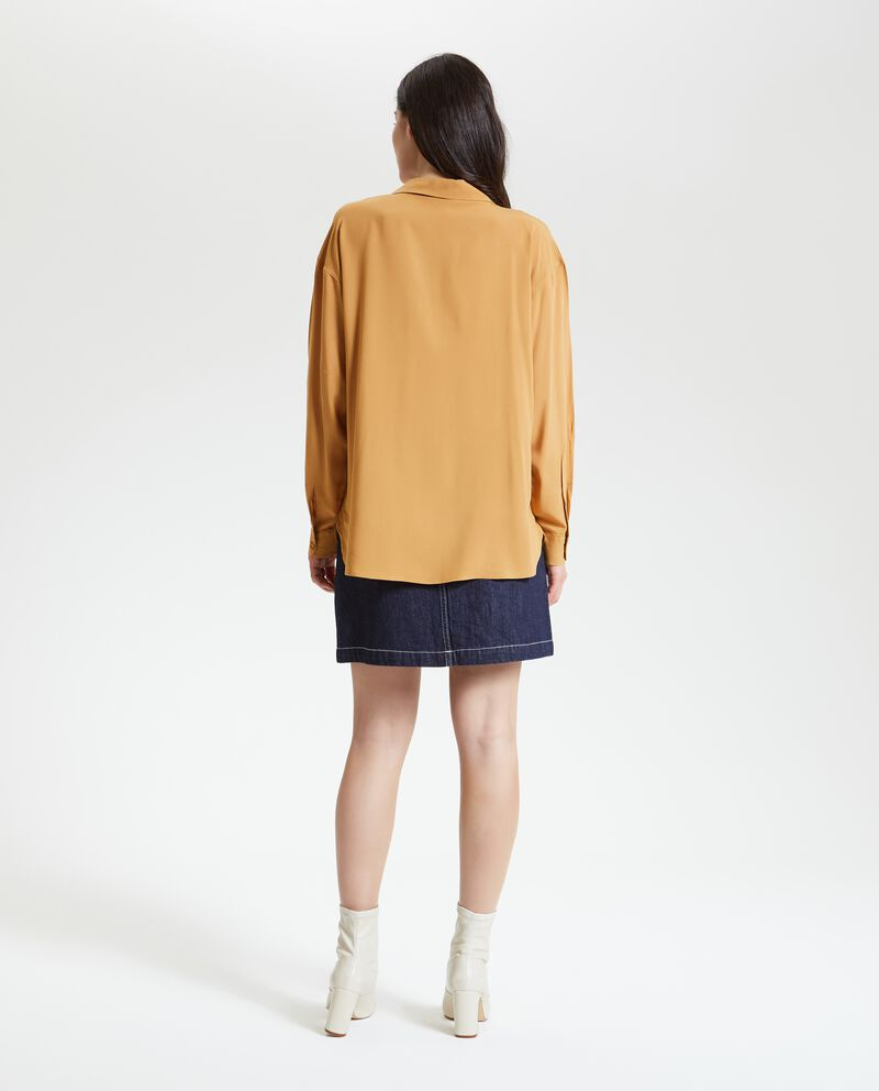 Camicia lunga in tinta unita donna