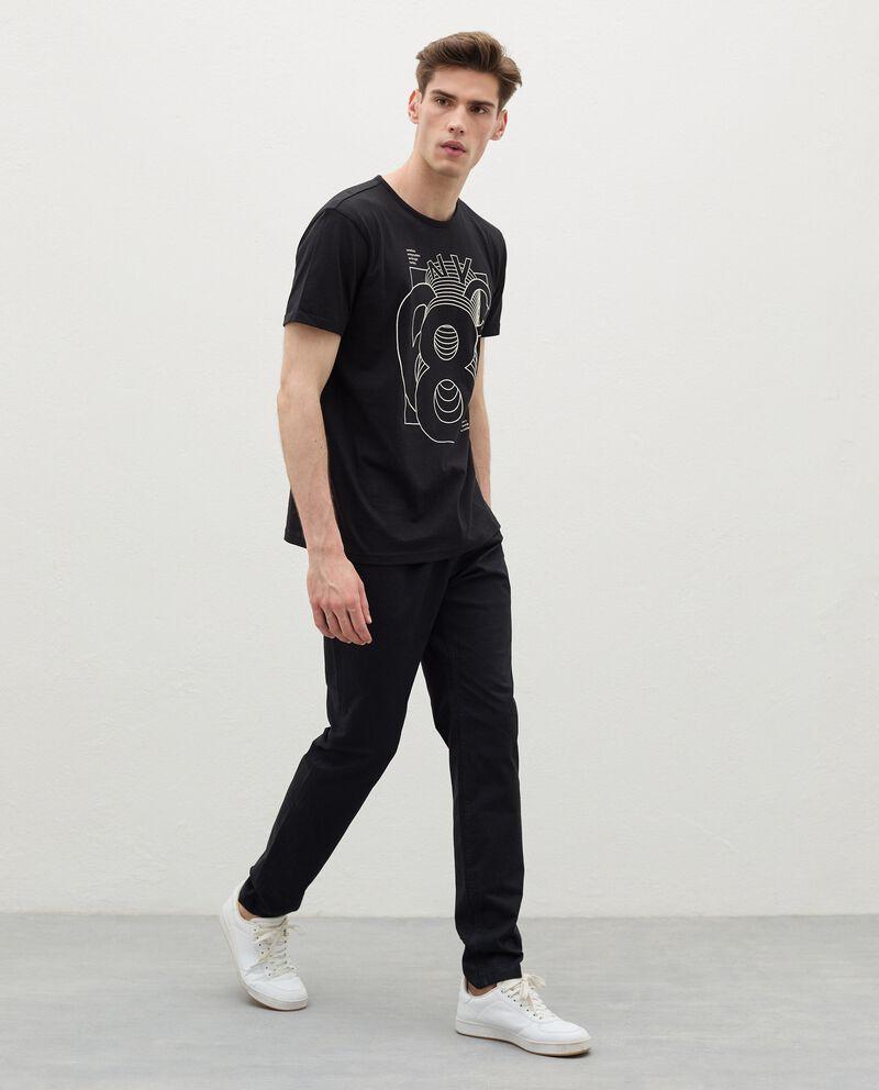 Pantaloni skinny in cotone uomo cover