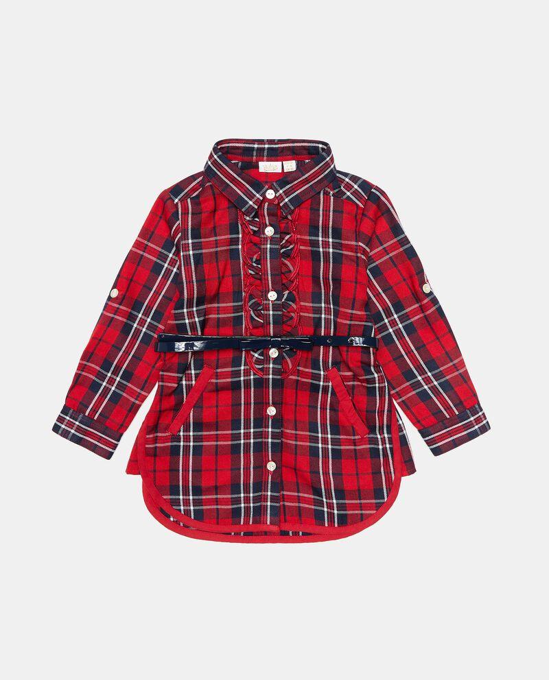 Maxi camicia in fantasia tartan neonata cover