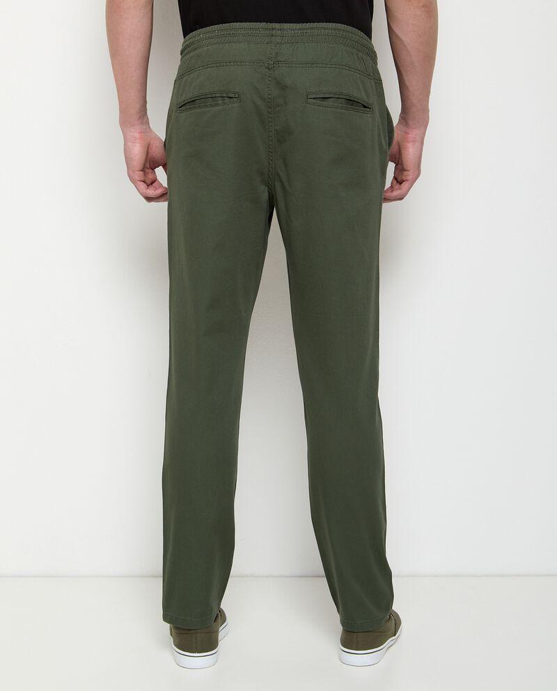 Pantaloni in puro cotone con coulisse uomo single tile 1