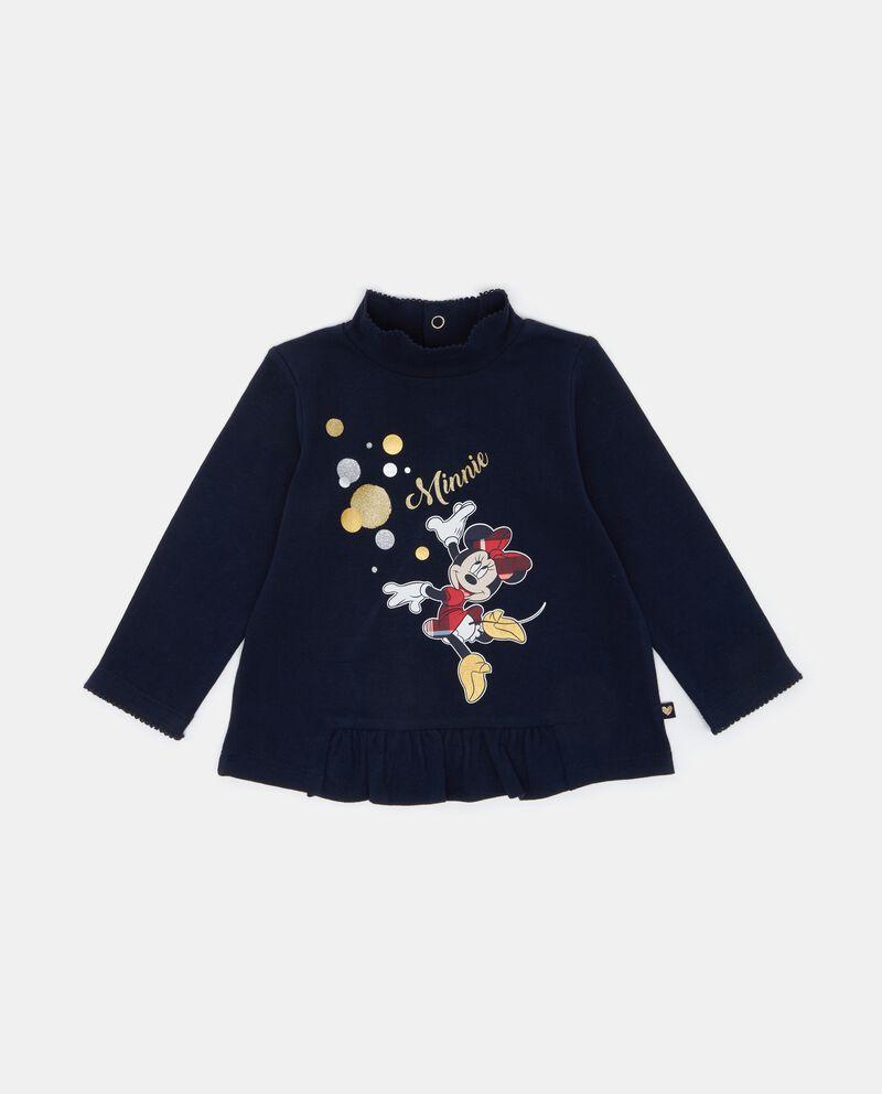 T-shirt con volant e collo alto neonata