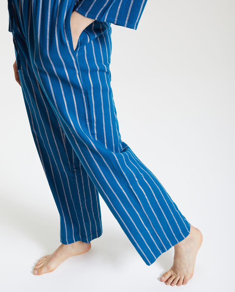 Pantaloni del pigiama con motivo a righe e filo lurex donna