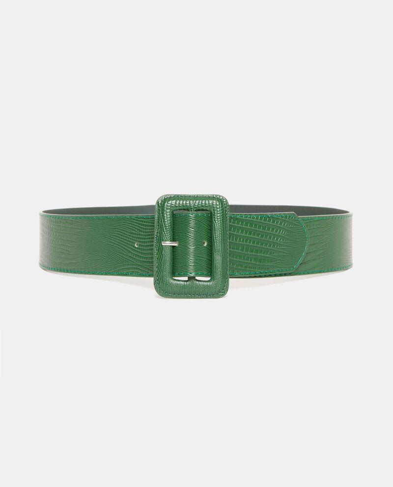 Cintura verde effetto pitone donna