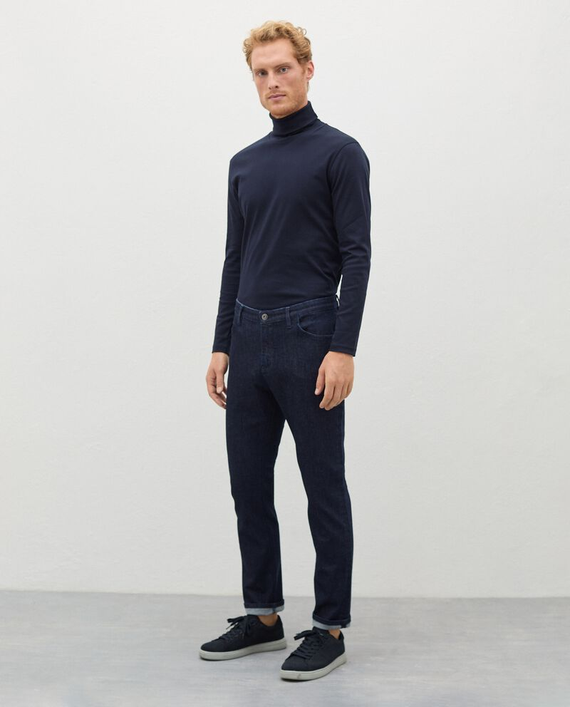 Jeans in cotone stretch regular fit uomo cover