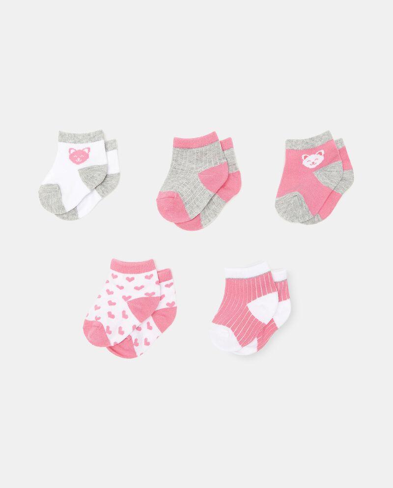 Set di 5 paia di calzini in cotone organico neonata cover