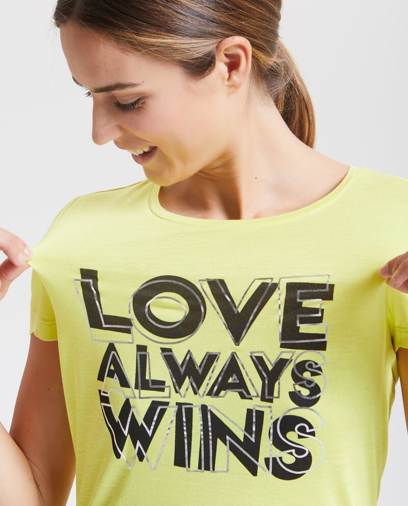 T-shirt con lettering Fitness donna
