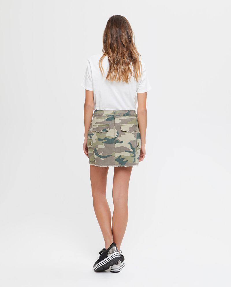 Gonna in puro cotone camouflage