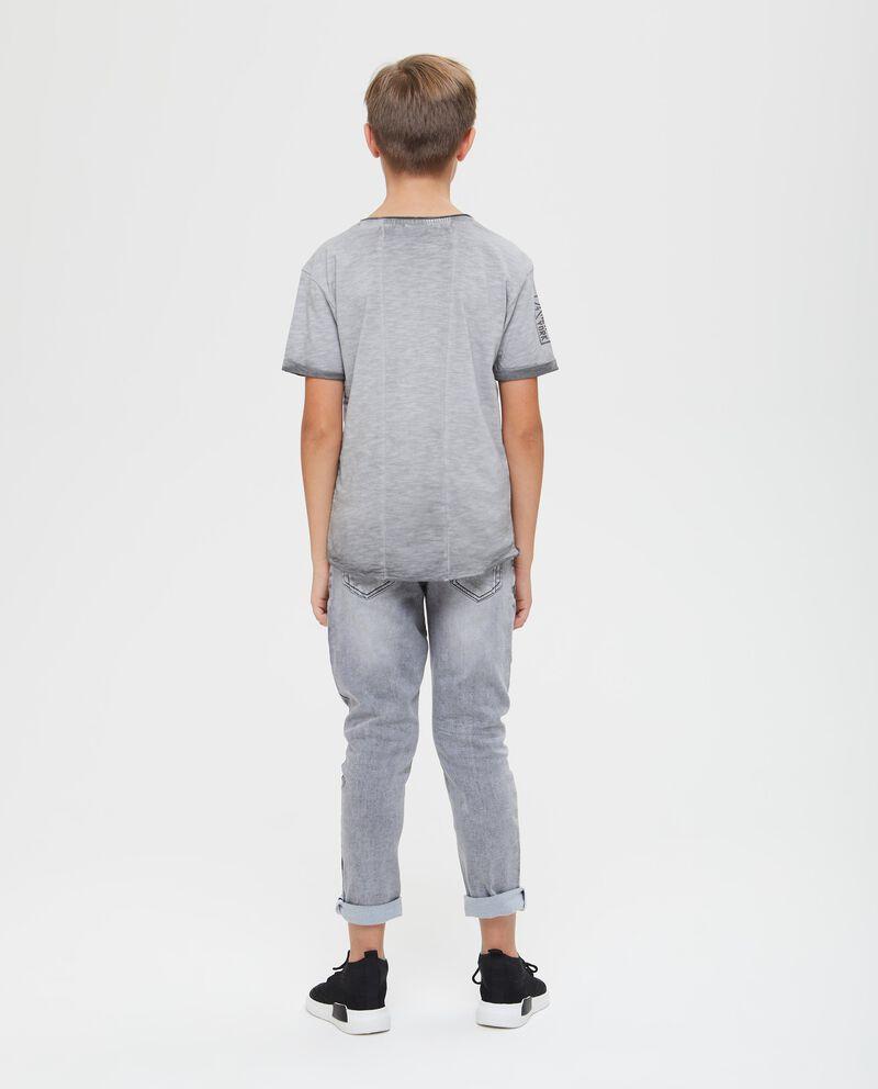 T-shirt puro cotone effetto delavato