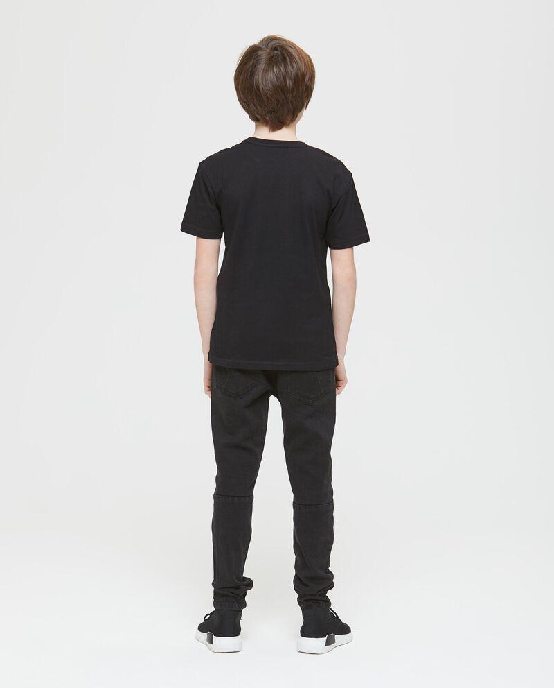 T-shirt cotone inserti con lettering