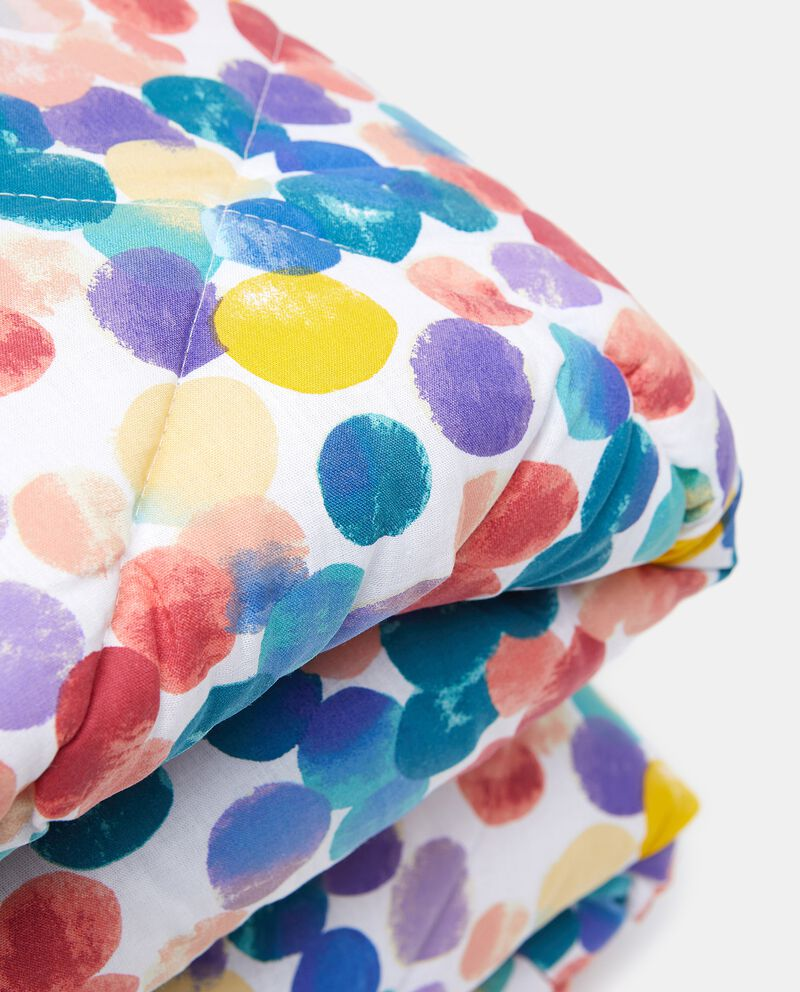 Trapunta dots esterno in puro cotonedouble bordered 1