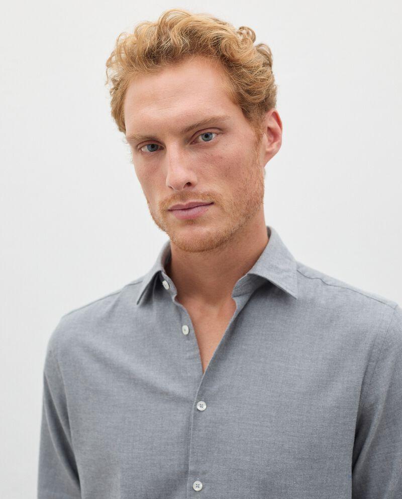 Camicia in flanella tinta unita uomo single tile 2