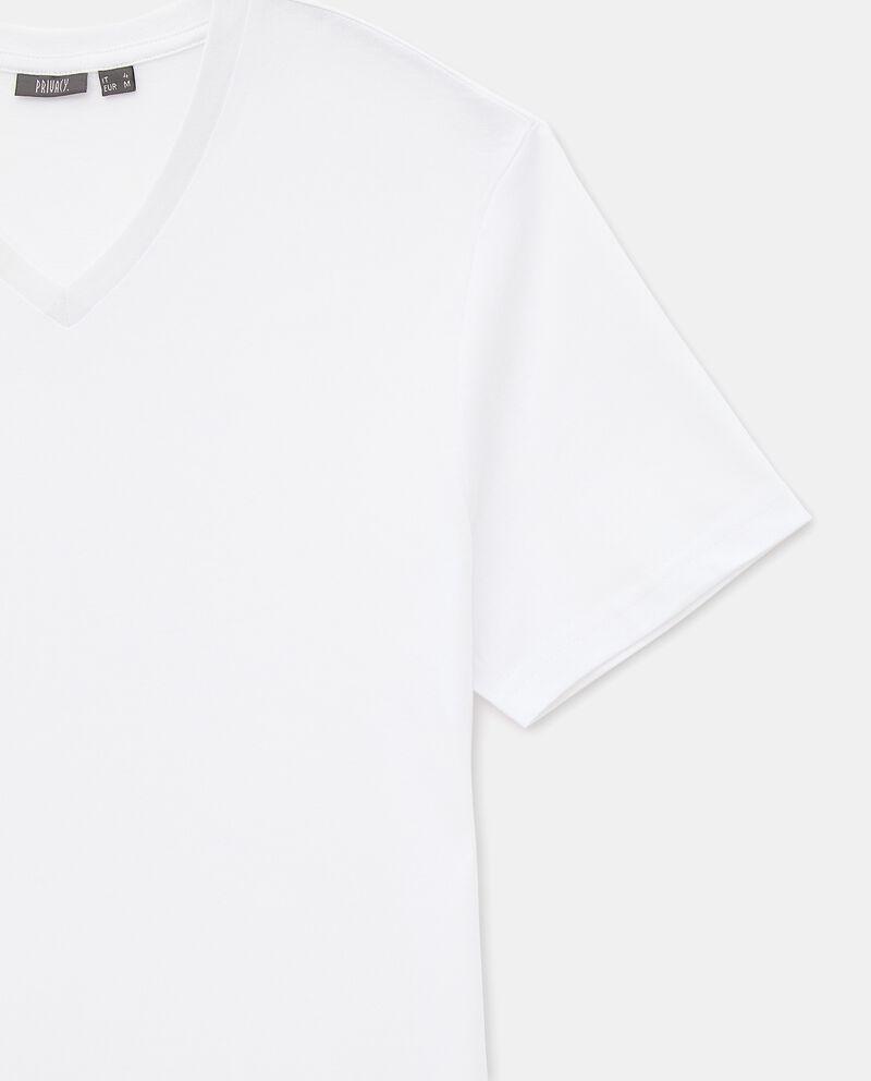 T-shirt intima di cotone organico con scollo a V uomodouble bordered 1