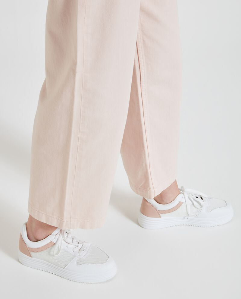 Pantaloni donna a palazzo in puro cotone