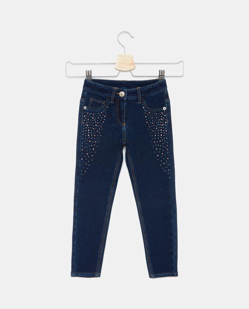 Jeans con strass bambina