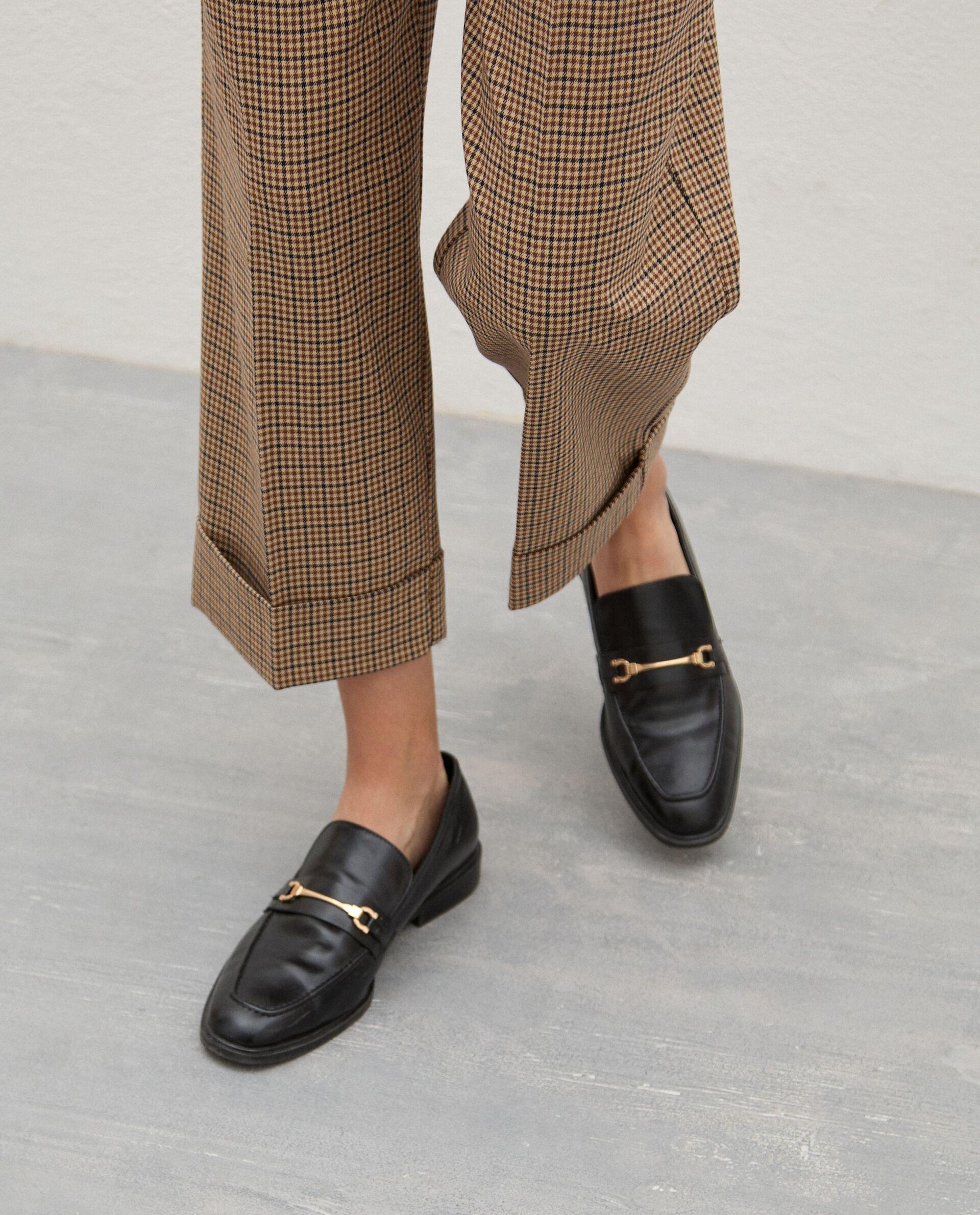 Pantaloni principe di galles ampi donna