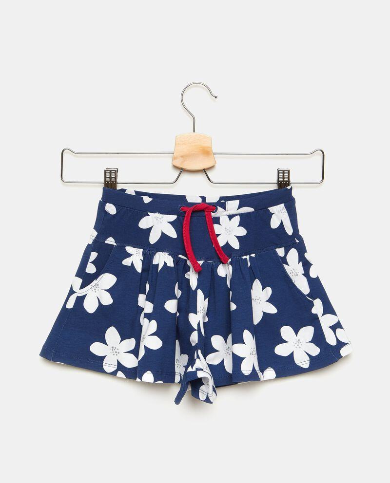 Gonna pantalone corta con fantasia fiorellini bambina