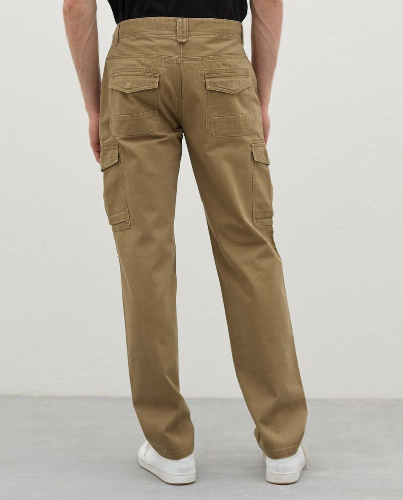 Pantaloni cargo in puro cotone uomo single tile 1