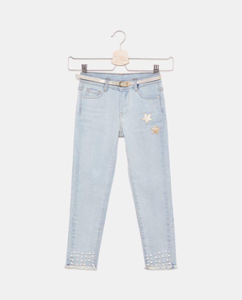 Jeans con perline e stelle bambina