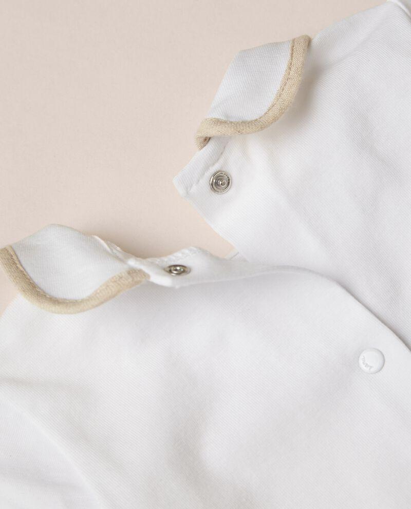 Tutina in jersey di cotone organico stretch MADE IN ITALY
