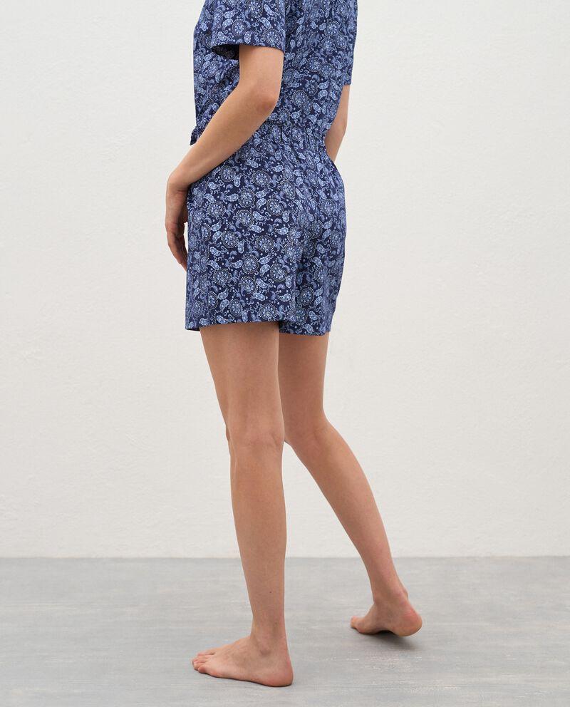 Bermuda pigiama stampati in puro cotone donna single tile 1