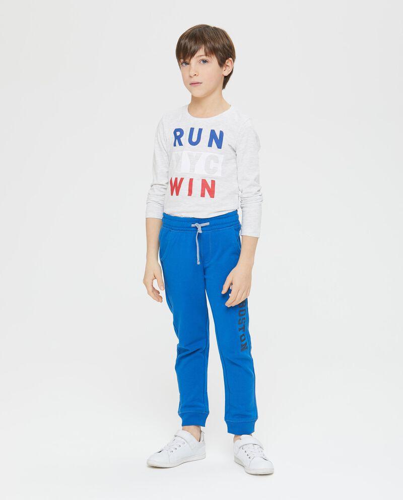 Pantaloni con tasche e lettering