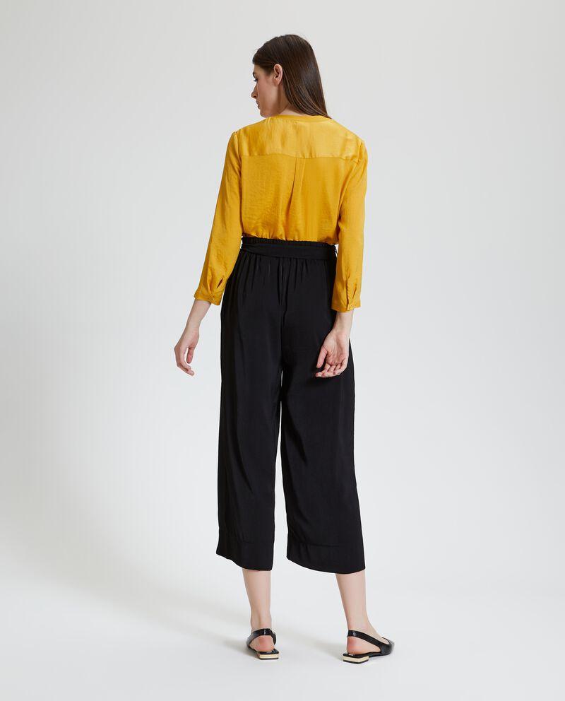 Pantaloni a palazzo cropped con fusciacca donna