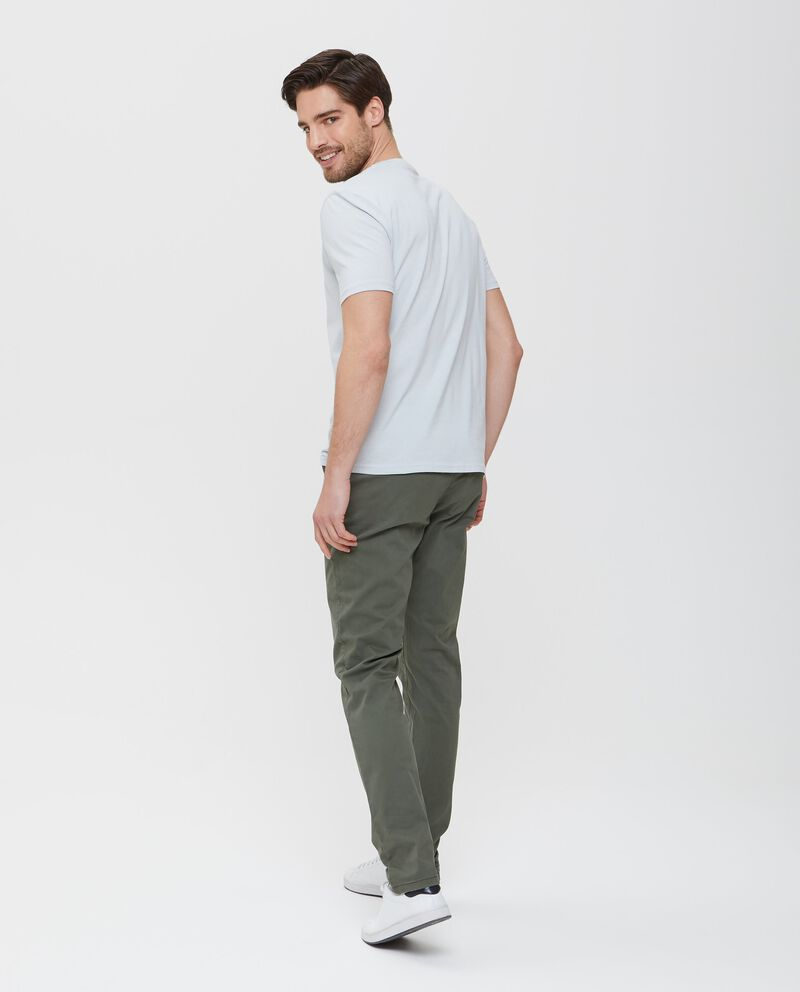 T-shirt in puro cotone grigia uomo