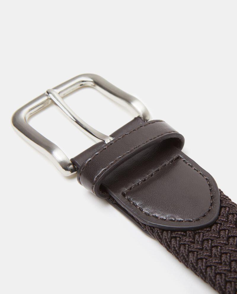 Cintura marrone intrecciata uomo