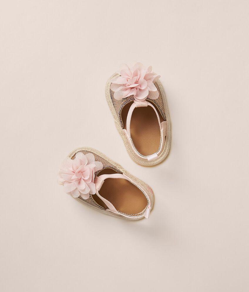 Sandali con fiori applicati double 1