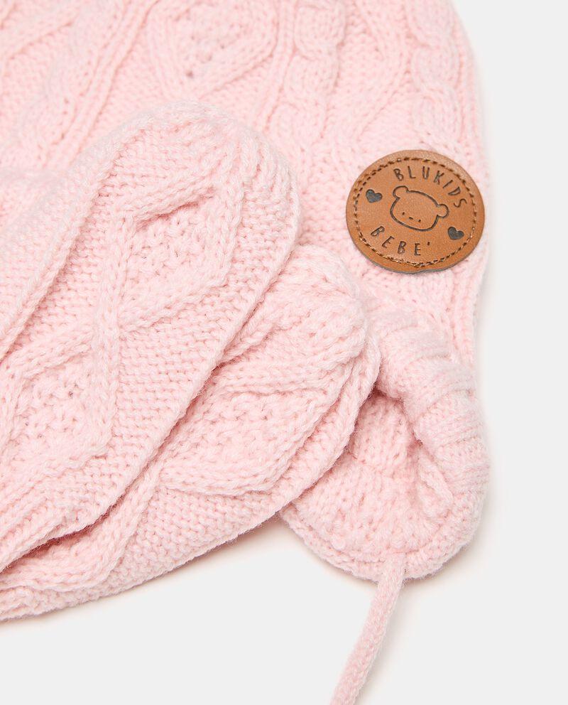 Set con berretto e manopoline in maglia neonatadouble bordered 1
