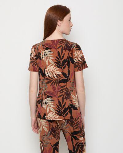 Maglia con stampa foglie donna