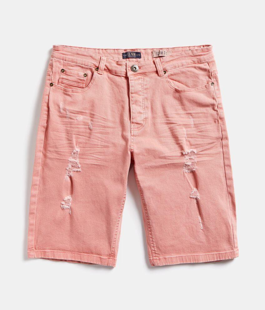 Bermuda jeans con strappi uomo