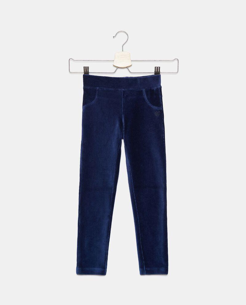 Pantaloni con effetto velluto