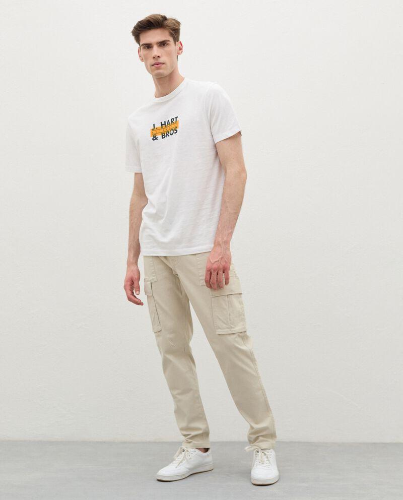 Pantaloni cargo di cotone stretch uomodouble bordered 0