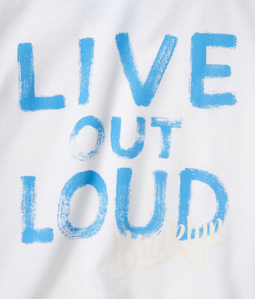 T-shirt in cotone organico jersey con stampa double 2