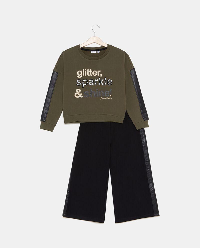 Set maglia con pantaloni ampi ragazza