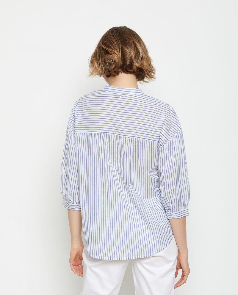 Camicia a righe in puro cotone donna