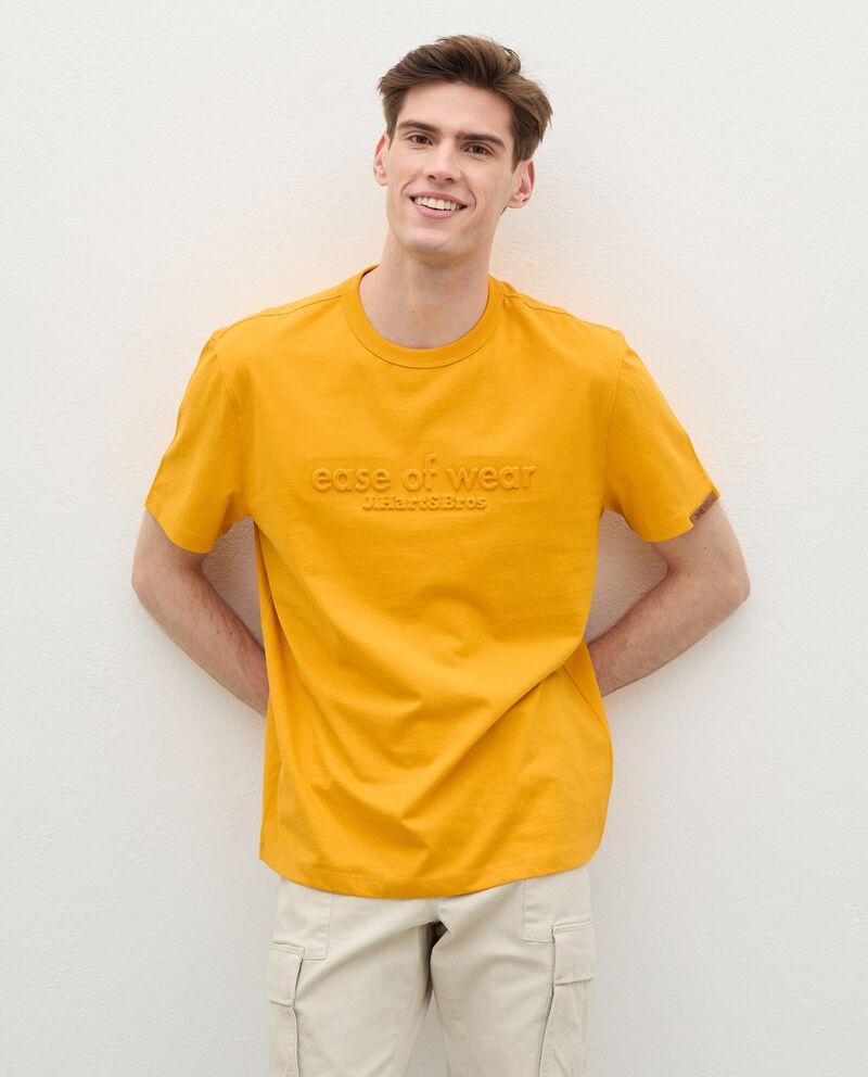 T-shirt in puro cotone con lettering 3D uomo cover