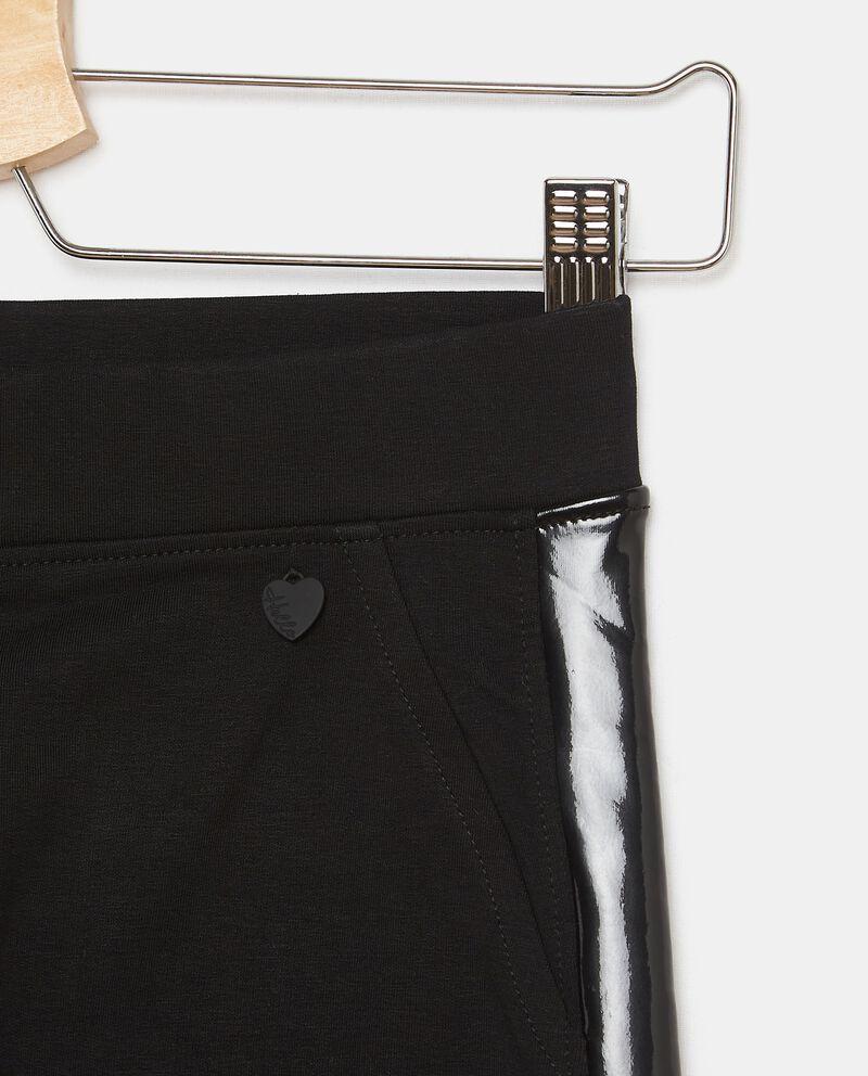 Pantaloni in felpa di cotone con inserti ragazza single tile 1