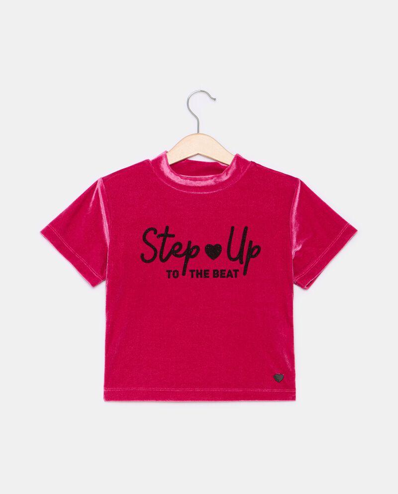 T-shirt in ciniglia a maniche corte ragazza cover