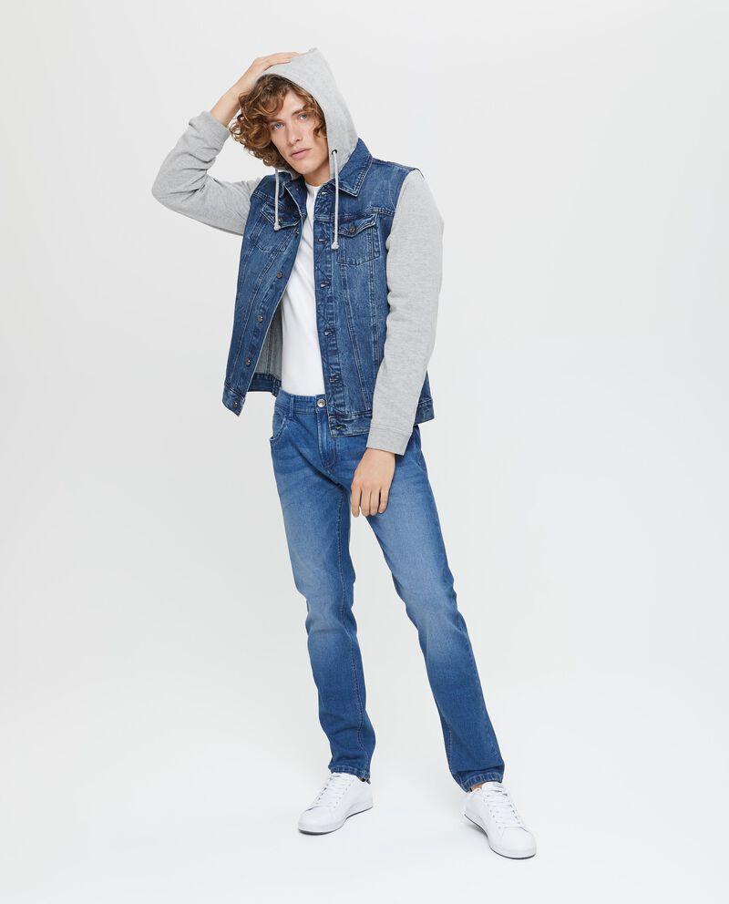 Gilet di jeans effetto delavato