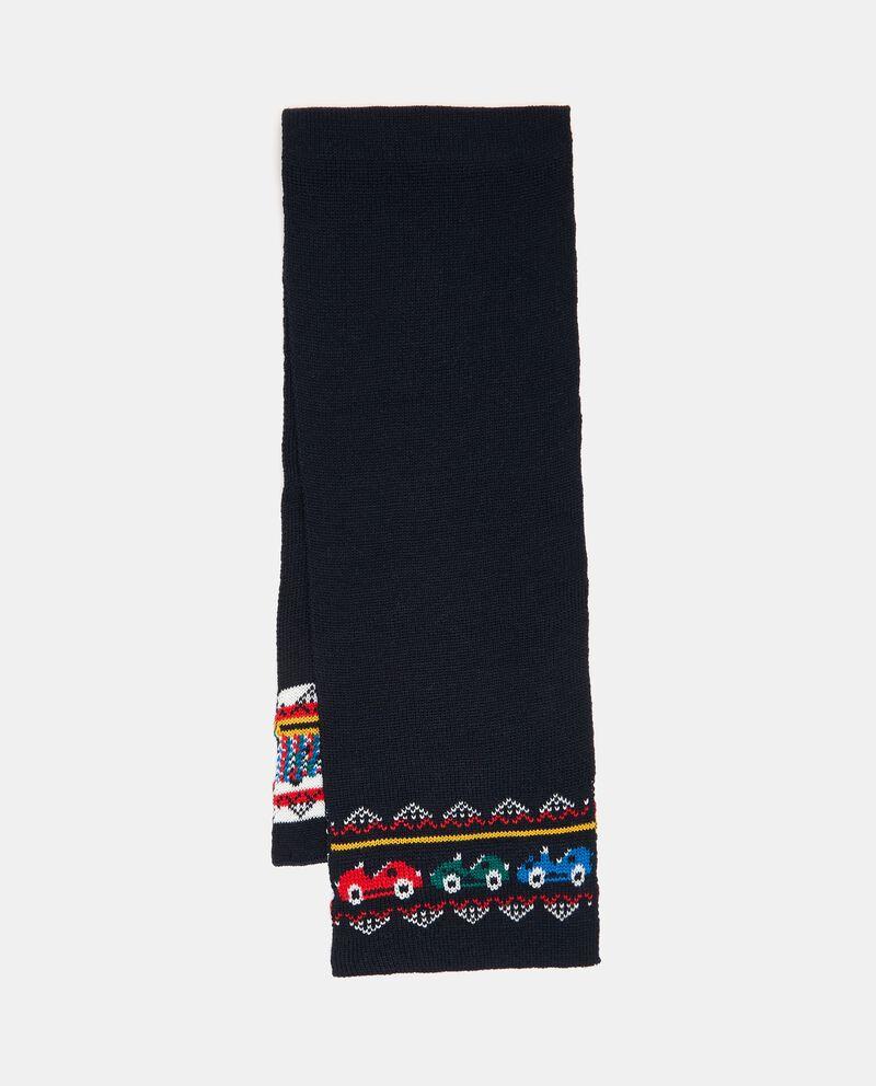 Sciarpa in maglia con motivo macchine neonato cover
